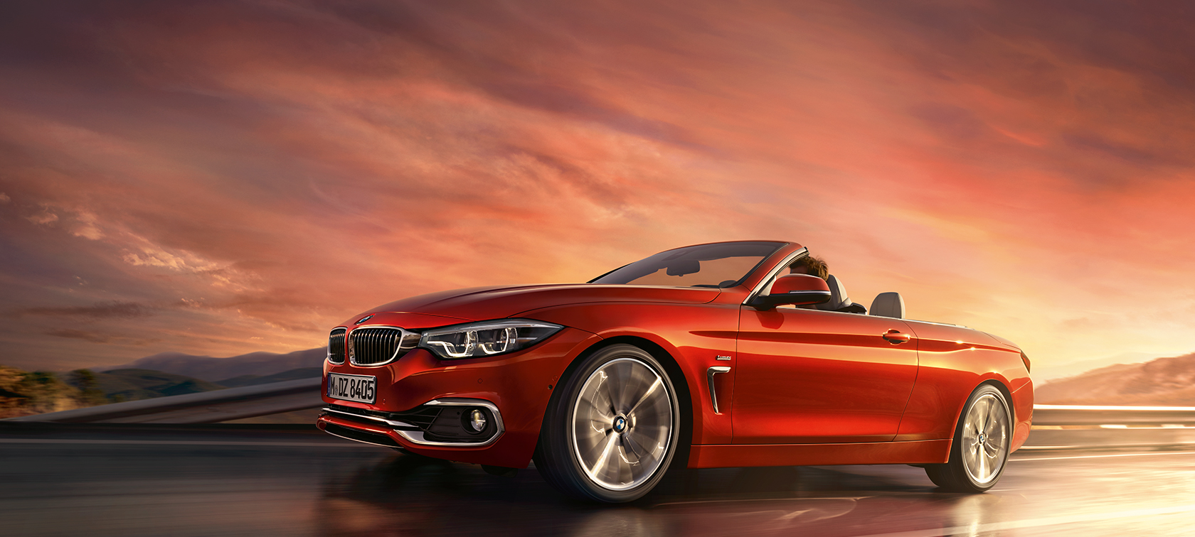 BMW 4 Series Convertible driving shot